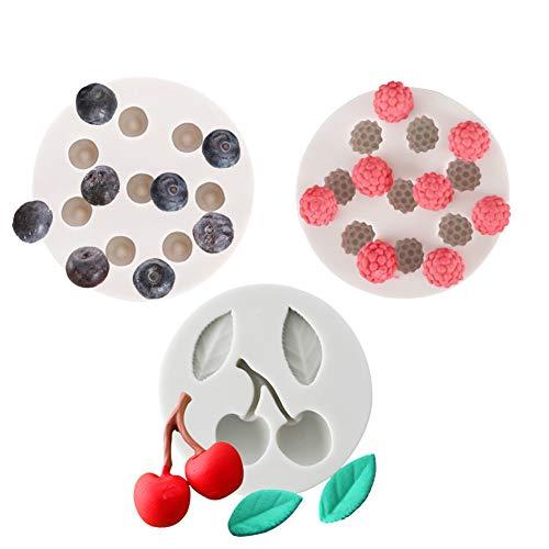 für Cupcakes, Blaubeeren, Himbeere, Eiswürfelform, 3 Stück ()