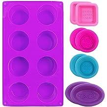 FineGood - Moldes de silicona para hacer jabones y magdalenas (9 unidades), color