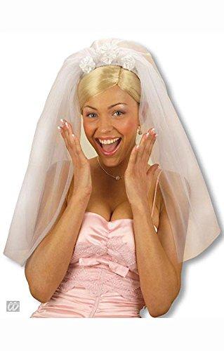 Bridal veil con rose