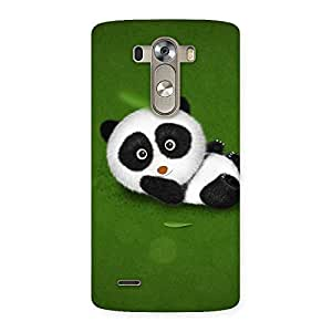 Stylish Panda Green Grass Back Case Cover for LG G3