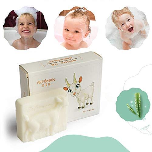 Blue Vesse Ziegenmilch Seife Feuchtigkeit Körper Wash Seifenschaufel Eczema,Psoriasis,Seborrhoeic Dermatitis - Ziegen-milch-bar