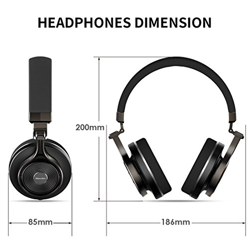 16a66441c90 Bluedio T3 Plus (Turbine 3rd ) Wireless Bluetooth 4.1 Stereo Headphones  with Mic/Micro SD Card Slot (Black)