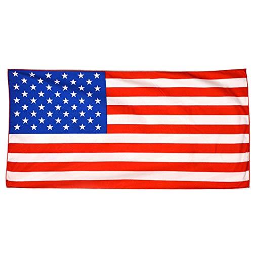 Alexsix1 stück Haustier Hund Badetuch Weiche Mikrofaser USA Flagge Patten Quick Dry Badetuch - Türkische Weiße Handtücher