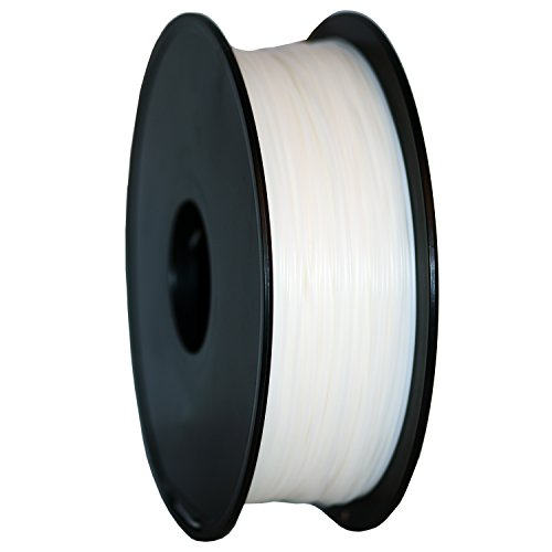 Geeetech® 3D Filament PLA, 3D PLA Filament 1.75mm 1KG, High Quality Reliable 3D Printing Filament For 3D Printer, Color: White