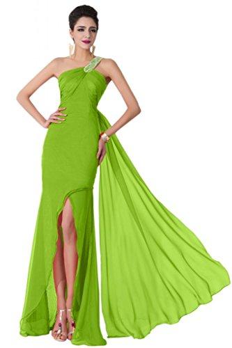 Sunvary uno Chiffon a spalla Fodero alto, per abiti da sera Pageant, per il 2015 Verde lime