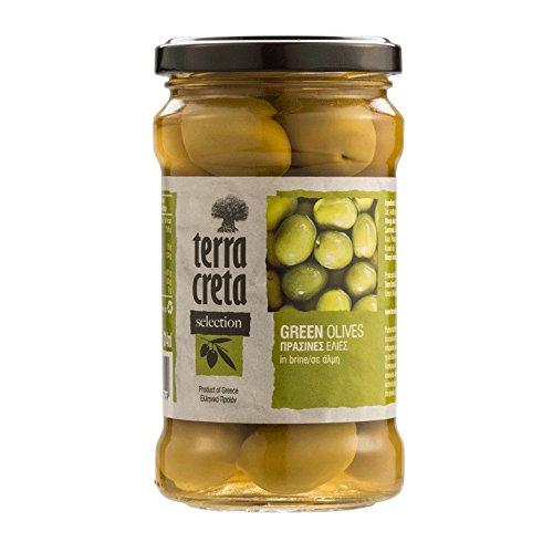 Griechische grüne Oliven Glas 160g terra creta green olives olive terra creta (Olive Green Gläser)