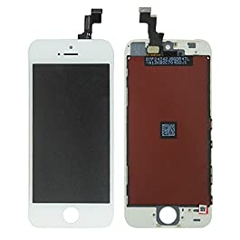 LL TRADER LCD for iPhone se White Display Digitizer Glass Lens Assembly Touch Screen Replacement with Repair Tool Kits