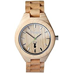 The Time Men's Watch Wood Capricorn Space Deer Watch ST02