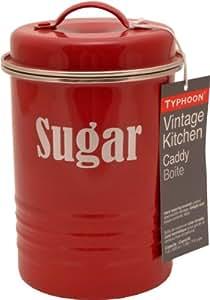 Typhoon Vintage Kitchen Boîte à sucre Rouge 19,5 cm