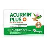 Kurkuma Kapseln hochdosiert von Acurmin PLUS - mizellares Curcumin C14 zertifiziert - ohne Piperin - 60 Kapseln