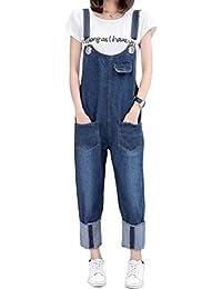 MatchLife Femmes Casual Jeans Salopette Pantalon
