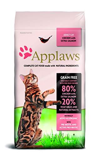 Applaws Katze Trockenfutter mit Hühnchen & Lachs, 1er Pack (1 x 2 kg)