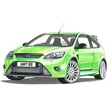 Tarjeta de felicitación, Ford Focus RS Mk2, tamaño A5