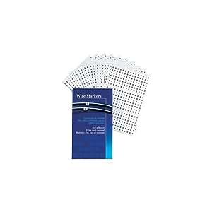 Étiquettes d'identification autocollantes marquage 0 - 9 couleur blanc