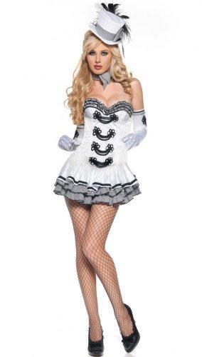 Sexy Kostüm CIGARETTE GIRL Gr. 36/38 (Weiße Zigarette Mädchen Kostüm)