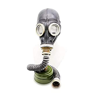 OldShop Gas Mask GP5 Set - Soviet Russian Military Gasmask REPLICA Collectable Item Set W/Mask, Hose, Filter - Authentic Look Several Color: Black | Size: M (2Y)