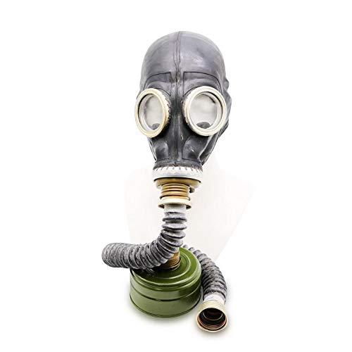 Set - Sowjetische Militär Gasmaske Replica Sammlerstück Set W/ Maske, Hose,Tasche, Filter - authentischer Look & Verschiedene Größen erhältlich Farbe: Schwarz | Größe: S ()