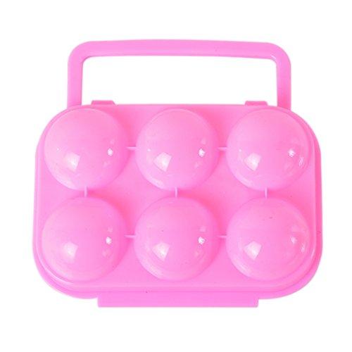 rainbabe 6Tragbare Eier aus Kunststoff Aufbewahrung Eier Carrier Halterung Eier zusammenklappbar Box für 2Personen Container