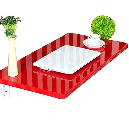 Lxla-tavolo da pranzo pieghevole scrivania per computer a muro scrivania per studio per bambini organizzatore multiuso, cucina, soggiorno, rosso (dimensioni : 70×50cm)