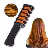 Incroyable cheveux Craie temporaire Couleur des cheveux Peigne Shimmer Crème Couleur des cheveux lavables Cheveux Colorant pour les filles Party cosplay bricolage 1pc - Hot orange