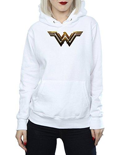 DC Comics Femme Justice League Movie Wonder Woman Emblem Sweat À Capuche Blanc