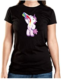 Drinking Unicorn T-Shirt Girls Black Certified Freak