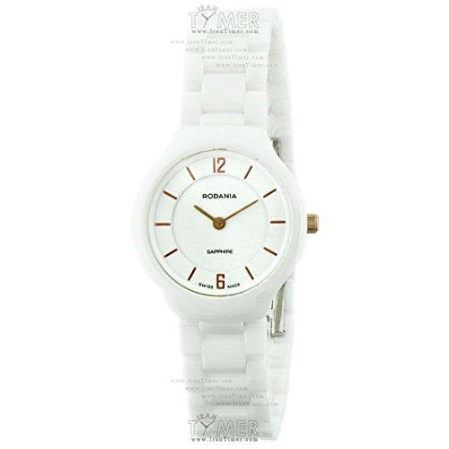 Reloj Rodania Mujer 02512143al cuarzo (batería) cerámica quandrante blanco correa cerámica