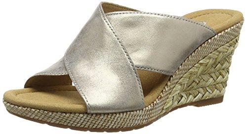 Gabor Purpose, Damen Durchg盲ngies Plateau Sandalen Gold (Gold Metallic Leather/Bast)