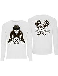 Generico T-Shirt Manica Lunga con Stampa Digitale frontre e Retro 5d84e1487f1