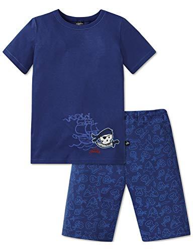 t´n Sharky Kn Anzug kurz Zweiteiliger Schlafanzug, Blau (Blau 800), (Herstellergröße: 116) ()