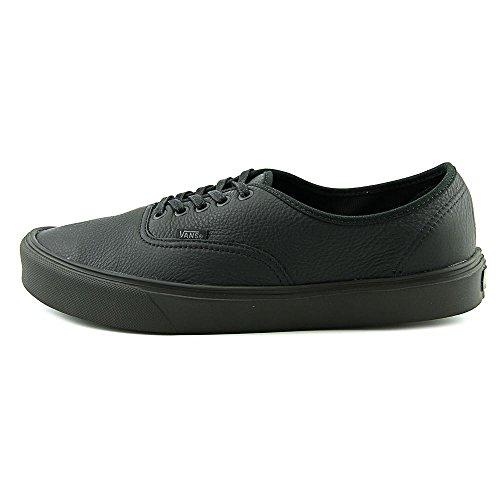 Chaussures Vans M Authentic Lite - Leather Black / Black-Noir Noir - Noir