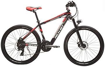 Rico Bit® Bicicleta eléctrica montaña tp-800250W * 36V LG recargable oculta en marco 7marchas, ruedas de 26