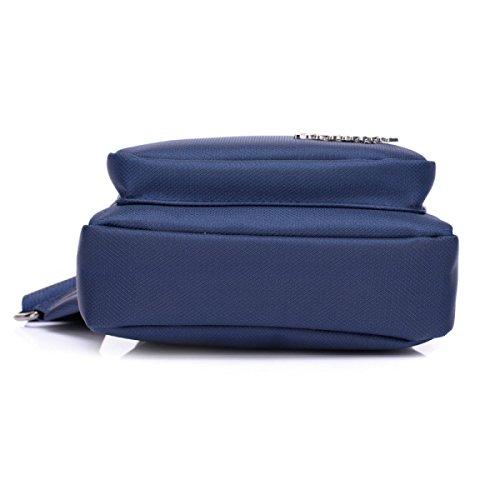 BULAGE Männer Taschen Männer Brusttaschen Lässig Geldbeutel Natur Sport Reisen Oxford Leinwand Reisen Blue