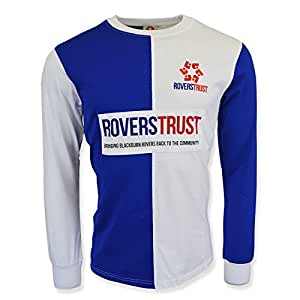 cd5cefac8f3 Blackburn Rovers Trust Retro Shirt  Amazon.co.uk  Sports   Outdoors