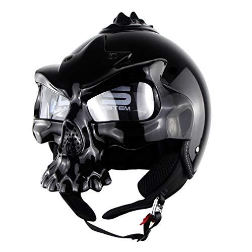 OLEEKA Schädel Motocross Helme Heißer Verkauf Persönlichkeit Schädel Maske Helm Motorrad Reifen Half/Full Face Racing Outdoor Helm (Reifen Replik)