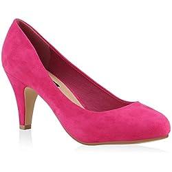 DAMEN SCHUHE 139723 PUMPS Pink Velours 36 | Flandell