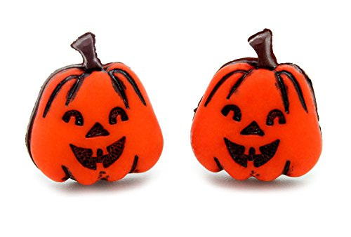 bluebubble Trick or Treat Kürbis Gesicht Ohrstecker mit GRATIS - Für Designs Halloween-kürbisse Gesicht