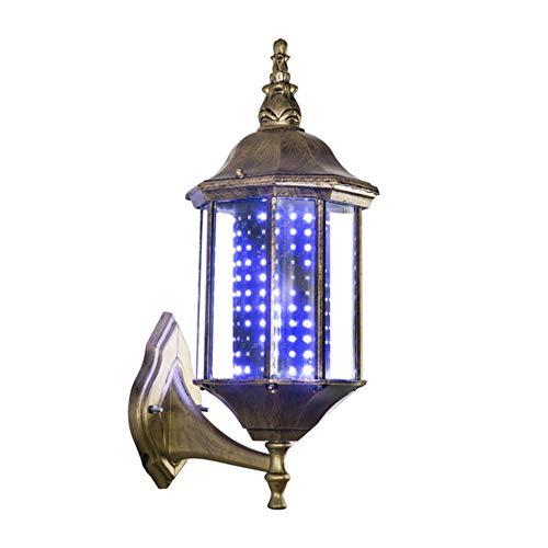 LED-Barbier-Mastleuchte, europäischer Retro-Innenhof, rotierende Lichter für Friseursalons, Logo, Palastlaternen, Aluminiumlegierung, Wandhalterung, 45 cm (Chips Europäische)