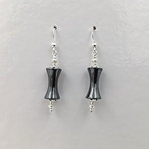 Ohrringe aus Silber und Hematit