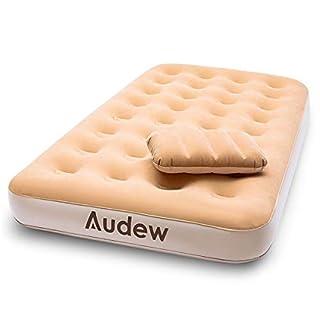Audew Luftmatratze Premium Luftbett Luftmatratze 190x97x23cm Für 1 Person mit Kissen und AC&DC elektrischer Pumpe, Auto Familie Gästebett und Camping, Auto-Sofa-Bett