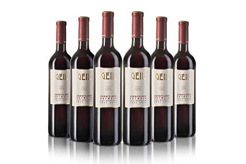 6 Flaschen Dornfelder Rotwein 2019 | lieblich/süß | Oekonomierat Johann Geil Erben | Reihnhessen | Deutscher Wein