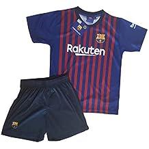 Conjunto Camiseta y Pantalon 1ª Equipación 2018-2019 FC. Barcelona - Réplica Oficial Licenciado