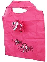 HENGSONG Réutilisable Achats Sacs Sac Pliable Sac à Main Cartoon Fish Shopping Sac