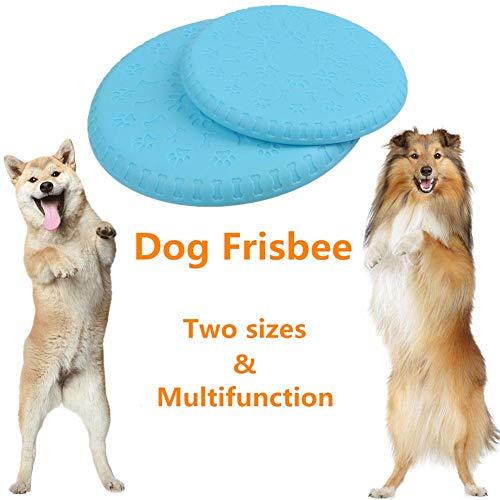 Buygoo 2pz frisbee per cani frisbee pieghevole gomma disco cane frisbee giocattolo frisbee cane giocattoli dischi volante frisbee cani frisbee resistente allenamento giocattolo cane 18.5cm/23cm