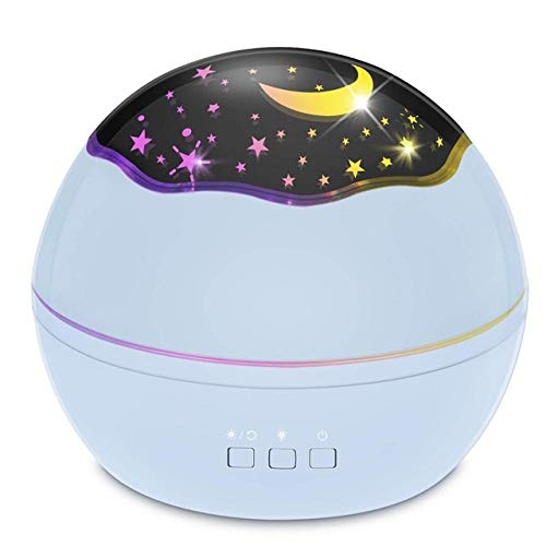 TKHCOLDM 8 Couleurs Etui de Rotation Starlight Océan Projecteur Lumière Nuit Bébé Sommeil Lumière Enfant Bébé Bébé Cadeau De Noël - G1