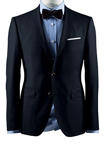 Michaelax-Fashion-Trade - Veste de costume - Uni - Manches Longues - Homme Bleu - Blue - Blau (38)