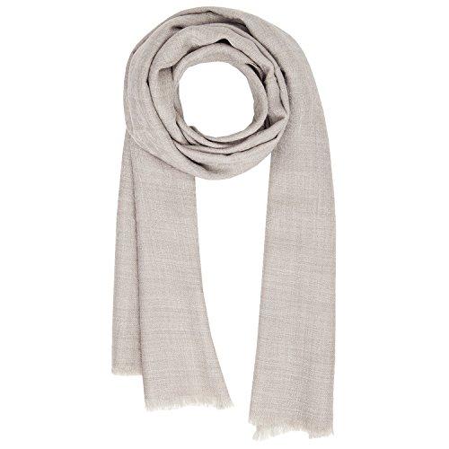 KASHFAB Kashmir Frauen Herren Winter Mode Jacquard Schal, Wolle Seide stole, Weich Lange Schal, Warm Paschmina Beige Natürlich (Maulbeere-seide-stoff)