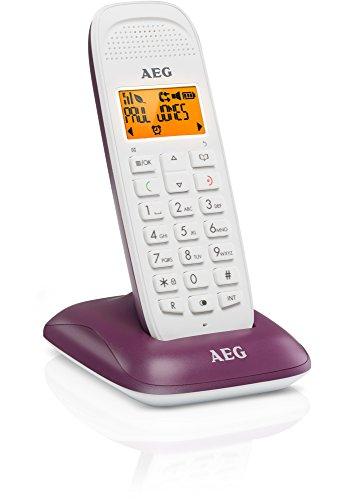 AEG Voxtel D81 - Teléfono inalámbrico DECT con altavoz, violeta