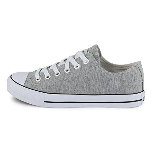 Sneakers best-boots da donna scarpe da ginnastica atletica scarpe Cords Slipper Grigio (Grigio)