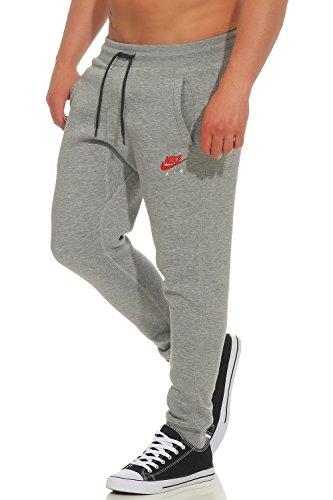 Nike Herren Trainingshose Air Heritage Fleece Cuffed Hose Grau (dunkelgrau) - L